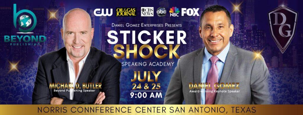 Michael D Butler Speaking at Sticker Shock Speaking Academy San Antonio, TX